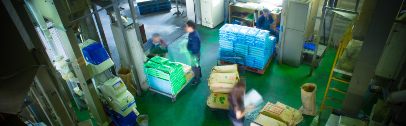 精米工場の写真